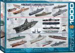 History of Aircraft Carrier Evolution 1000 Piece Puzzle